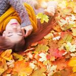 Frische Haut im Herbst